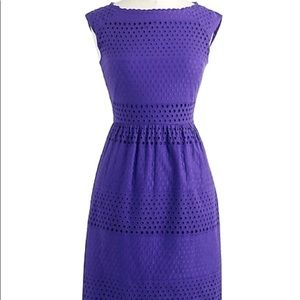 J.Crew Lucille Dress 6 Eyelet A-Line Sleeveless 6